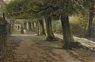 Østbanegade - The Beach Promenade, now Østbanegade, 1896