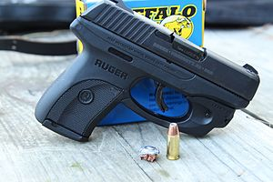 Ruger LC9 - Redesigned striker fired lc9. Note center-trigger safety