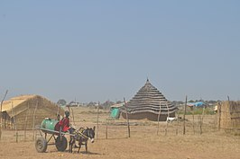 Een dorp in Abyei in november 2009.