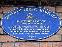 Sunnyside lodge (waltham forest heritage)