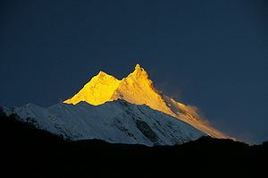 English: Sunrise, Manaslu, Nepal, Himalaya