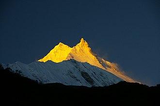 Gorkha District - Manaslu at sunrise