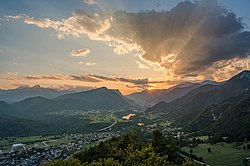 Sunset over my home town Jesenice.jpg