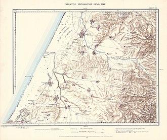 Yibna - Image: Survey of Western Palestine 1880.16