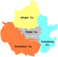 Districts of Suwon