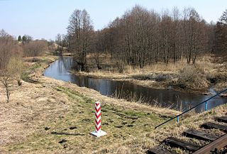 Svislach (Neman) river in Belarus