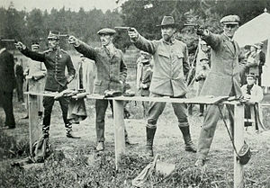 Erik Boström - Erik Boström (2nd from right) at the 1912 Olympics