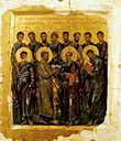 The Synaxis of the Twelve Apostles. Russian, 14th century, Moscow Museum.