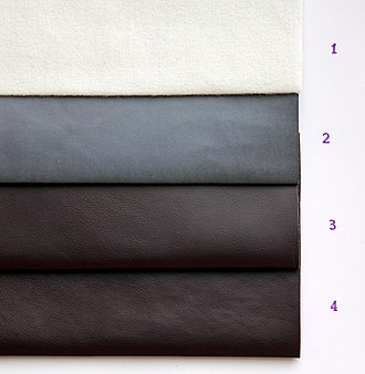 Artificial leather - Image: Synthetic PU leather HC1