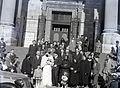 Szent István tér, a Szent István-bazilika főbejárata. Fortepan 104858.jpg