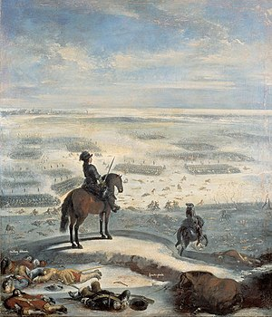 1658 in Sweden - The crossing of the Great Belt: painting by Johan Philip Lemke