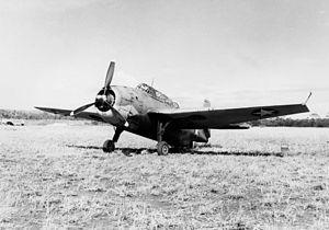 VMA-131 - A VMSB-131 TBF-1 on Guadalcanal.