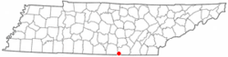 Location of Orme, Tennessee