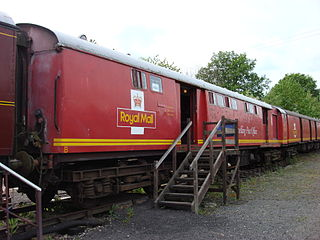 railway wagons for sorting and transporting mail