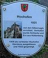 Tafel Ehem. Hochofen anno 1825 in Ferlach, Kärnten.jpg
