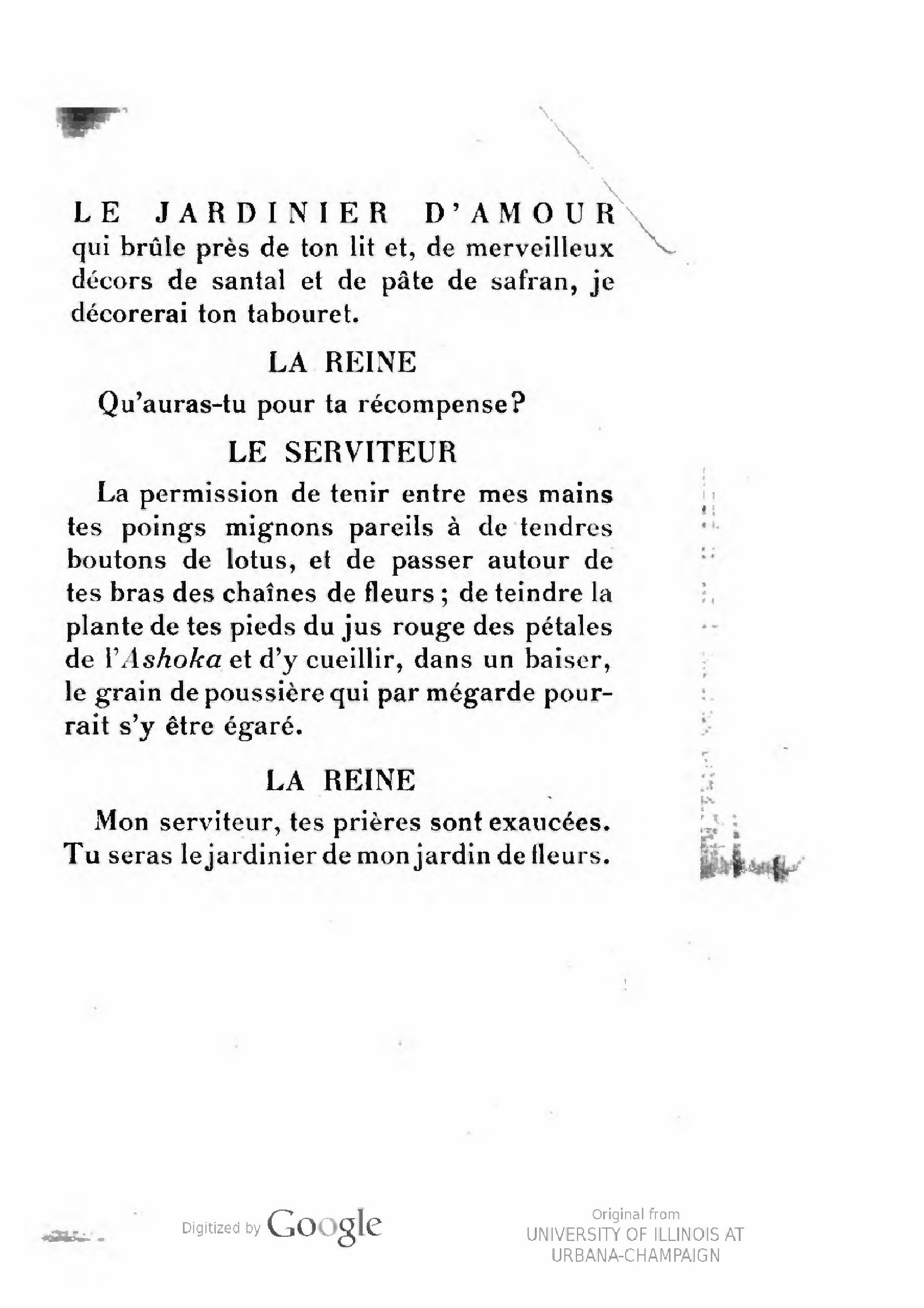 Page tagore le jardinier d amour wikisource for Le jardinier