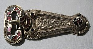 "Taplow burial - Belt buckle of the ""Taplow Prince"""