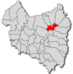 Location in Covasna County