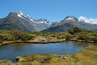 Routeburn Track world-renowned tramping (hiking) 32 km track found in the South Island of New Zealand