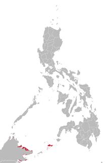 Tausug language map.png
