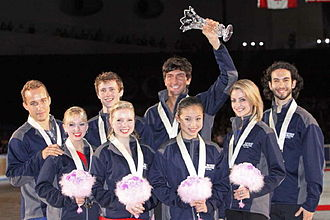 ISU World Team Trophy in Figure Skating - Team USA at the 2009 World Team Trophy medal ceremony.