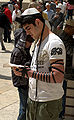Tefillin worn by a man at the Western Wall in Jerusalem.jpg