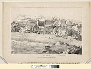 Tenby, south sands: forms plate 1, of the Panoramic View