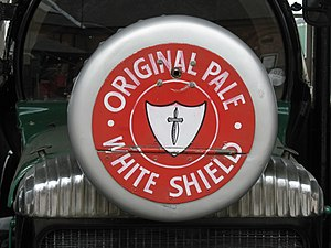 Worthington's White Shield - The 1920s era White Shield logo, as depicted on a car