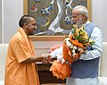 The Chief Minister of Uttar Pradesh, Yogi Adityanath calling on the Prime Minister, Shri Narendra Modi, in New Delhi on April 09, 2017.jpg