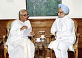 The Chief Minister of West Bengal Shri Buddhadeb Bhattacharya calls on the Prime Minister Dr. Manmohan Singh in New Delhi on September 17, 2004.jpg