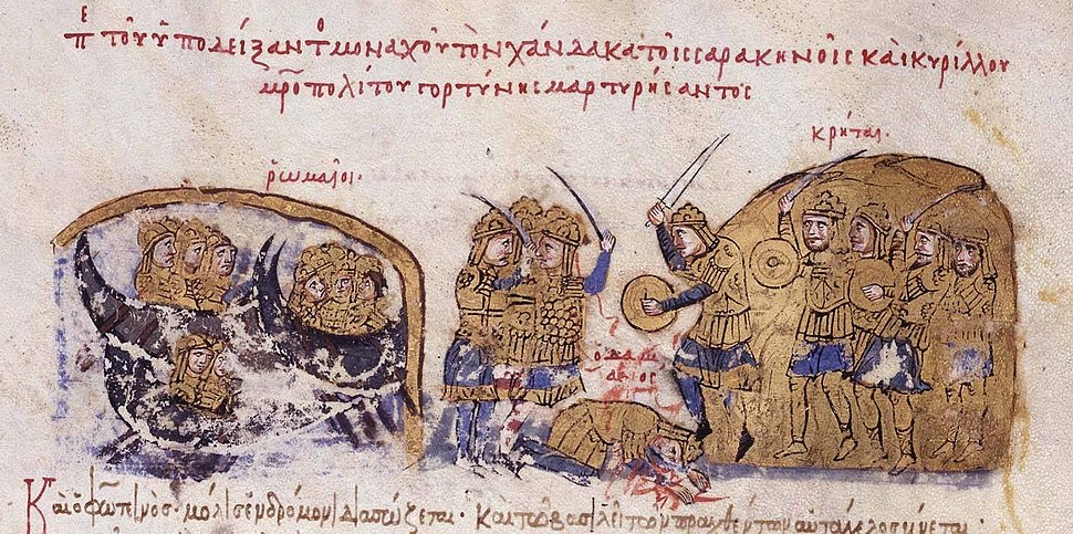 The Cretan Saracens defeat the Byzantines under Damianos