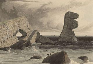 The Eligug stack: near St. Gowans-head, Pembrokeshire