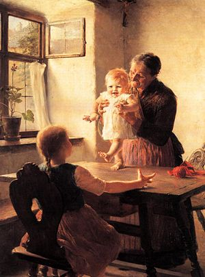 First Steps (painting) - Image: The First Steps 1893