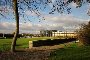 "Bristol and Bath Science Park - The main building at the Bristol and Bath Science Park, called the ""Forum"""