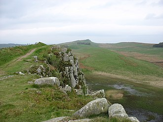 Milecastle 38 - View over Crag Lough near the site of Turret 38B