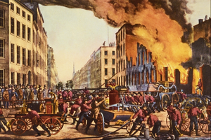 Louis Maurer - Image: The Life of a Fireman Currier and Ives
