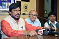 The Minister of State for Social Justice & Empowerment, Shri Ramdas Athawale addressing a press conference, in Kolkata on November 05, 2018.JPG