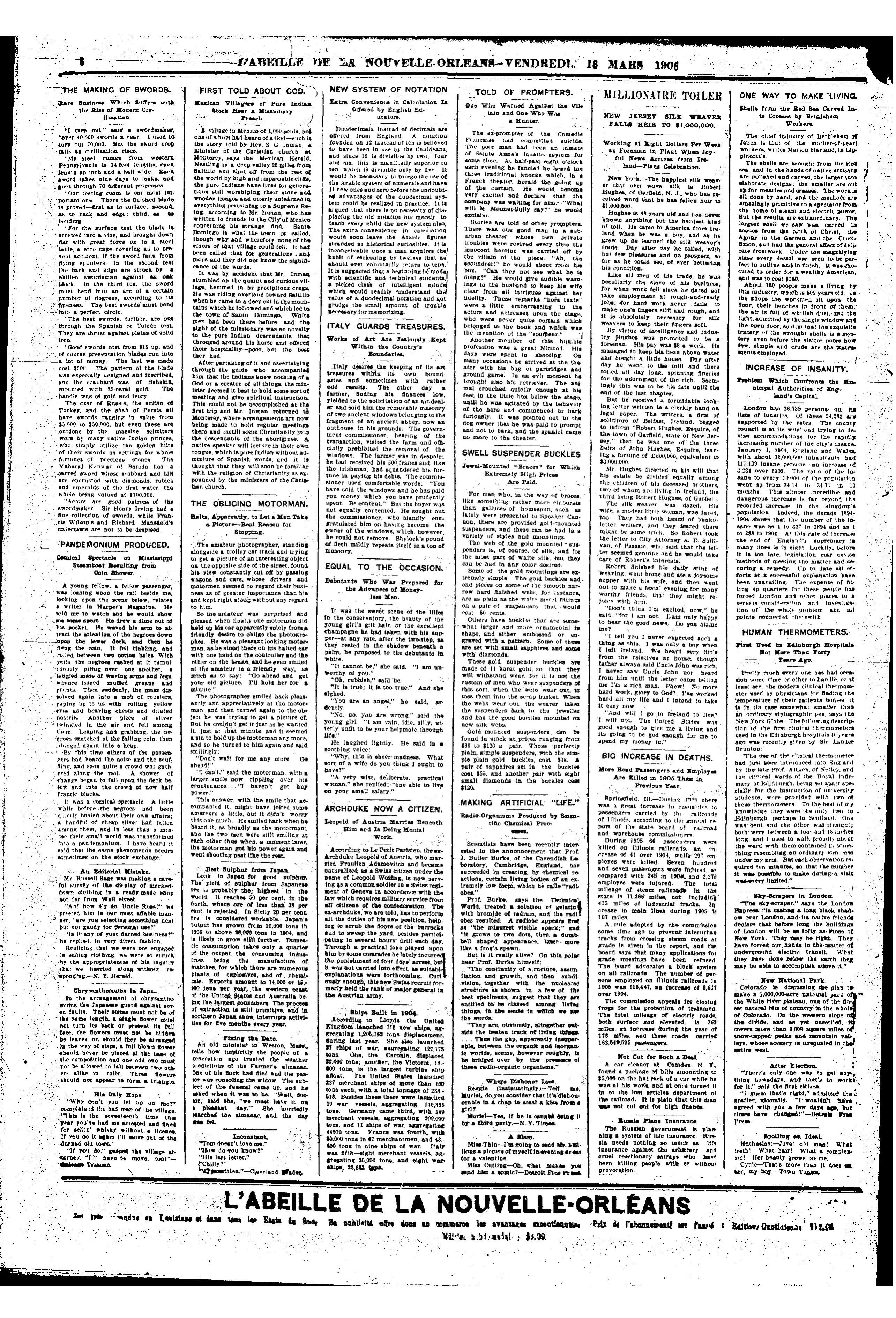 File:The New Orleans Bee 1906 March 0114 pdf - Wikimedia Commons