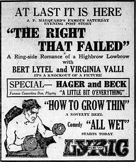 <i>The Right That Failed</i> 1922 film directed by Bayard Veiller