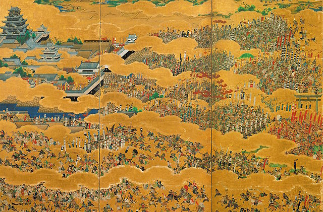 Siege Of Osaka Painting Artist