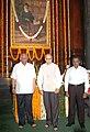 The Speaker, Lok Sabha, Shri Somnath Chatterjee paid floral tributes to Dadabhai Naoroji on the occasion of his birth anniversary, in New Delhi on September 04, 2007.jpg