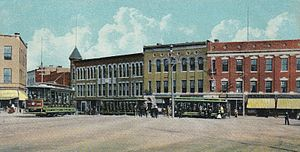 Hudson, Massachusetts - Wood Square in 1907