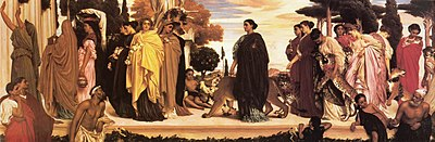 The Syracusan Bride leading Wild Animals in Procession to the Temple of Diana by Lord Frederick Leighton.jpg