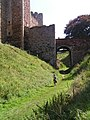 The Tudor bridge over the dry moat at Framlingham Castle - geograph.org.uk - 536343.jpg