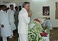 The Union Home Minister, Shri Shivraj V. Patil paying tribute to the mortal remains of the former Prime Minister Shri Chandra Shekhar, in New Delhi on July 08, 2007.jpg