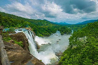 Athirappilly Falls waterfall in Athirappilly, Thrissur, Kerala, India