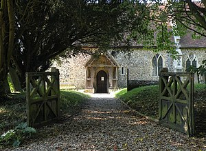 Stanningfield - The entrance to St Nicholas's church