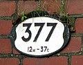 The number plate of railway bridge 377 - geograph.org.uk - 1047259.jpg