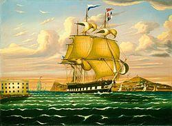 Thomas Chambers - Packet Ship Passing Castle Williams, New York Harbor.jpg