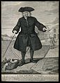 Thomas Coram, in the foreground an infant in a basket, in th Wellcome V0001284.jpg